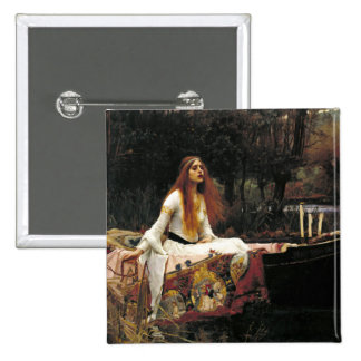 John William Waterhouse la señora Of Shalott Chapa Cuadrada 5 Cm