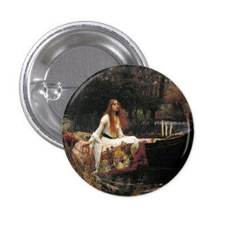John William Waterhouse la señora Of Shalott Chapa Redonda 2,5 Cm