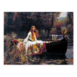 John William Waterhouse la señora Of Shalott Postal