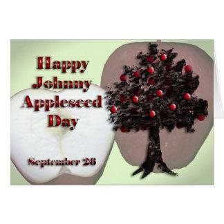 Johnny Appleseed día tarjeta 26 de septiembre