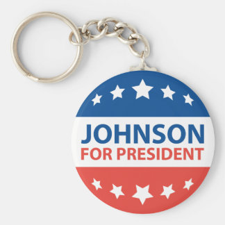 Johnson para el presidente llavero redondo tipo chapa