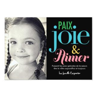 Joie y vacance de photo de las cartas de d'amour invitación 12,7 x 17,8 cm