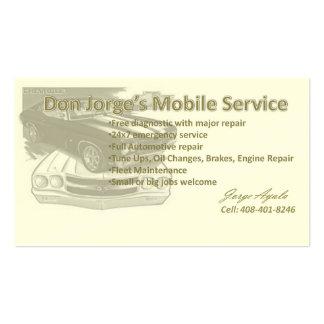 Jorge automotriz tarjetas de visita