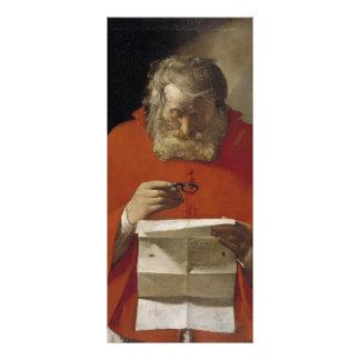 Jorte de la Tour- Saint Jerome que lee una letra Plantilla De Lona