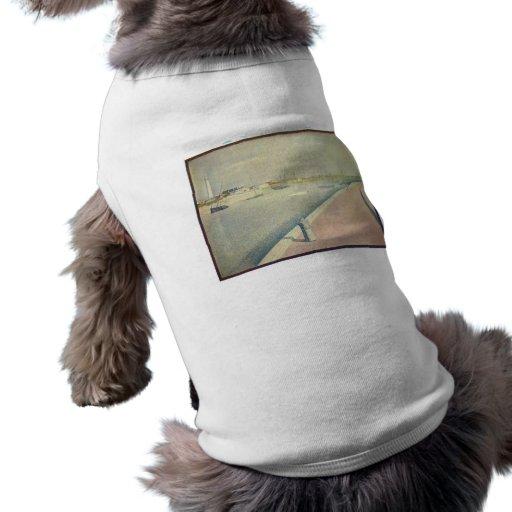 Jorte Seurat - el canal de Gravelines Pequeno-f Camisetas De Perro