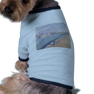 Jorte Seurat- el canal de Gravelines Camiseta De Mascota