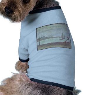 Jorte Seurat- el canal en Gravelines igualando Camisa De Mascota