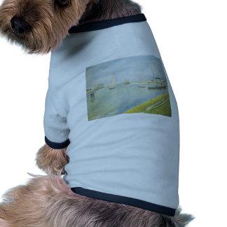 Jorte Seurat- el canal en Gravelines Camisa De Mascota