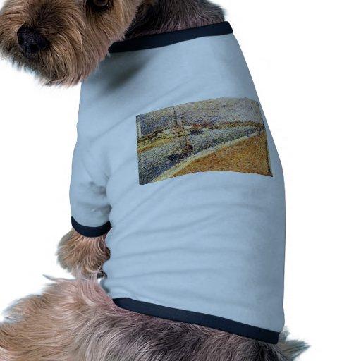 Jorte Seurat- 'el canal en Gravelines Camiseta De Perro