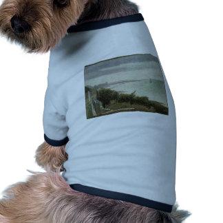 Jorte Seurat- el canal inglés en Grandcamp Camisetas Mascota