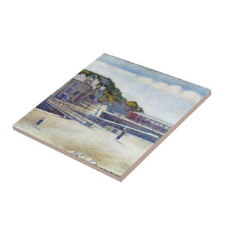Jorte Seurat- el puerto y los muelles Azulejo Cerámica
