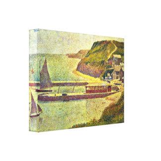 Jorte Seurat - Puerto-en-Bessin Impresión En Lona