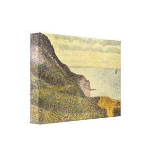 Jorte Seurat - vista del Puerto-en-Bessin Lienzo Envuelto Para Galerias