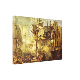 José Guillermo Turner - batalla de Trafalgar Impresion En Lona