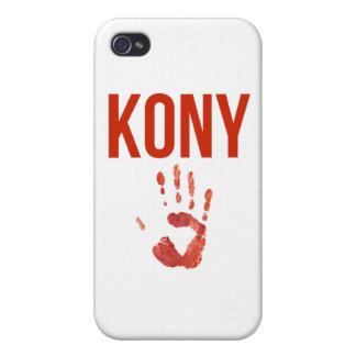"""José Kony 2012 - mercancía de la """"mano sangrienta"""" iPhone 4 Protectores"""