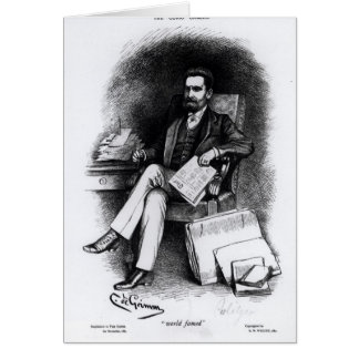 "Joseph Pulitzer ""del objeto curioso"", 1887 Tarjeta"