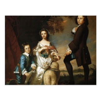 Joshua Reynolds Thomas y Martha Neate, con el prof Postales