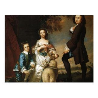 Joshua Reynolds Thomas y Martha Neate, con el prof Tarjetas Postales