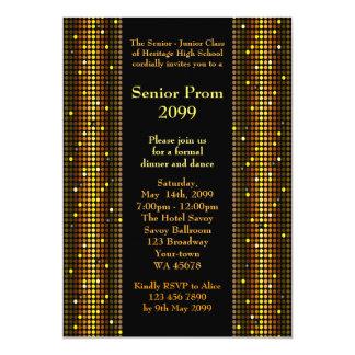 Joven mayor del baile de fin de curso, disco, invitación 12,7 x 17,8 cm