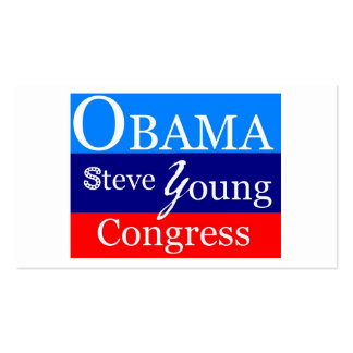 jóvenes de obama steve plantillas de tarjeta de negocio