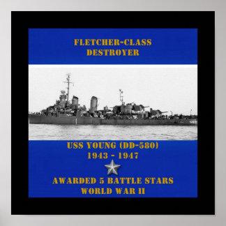 Jóvenes de USS (DD-580) Impresiones