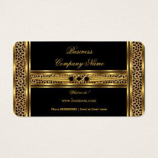 Joya con clase elegante del leopardo del negro del tarjeta de negocios