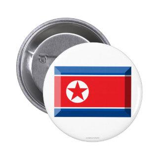 Joya de la bandera de Corea del Norte Chapa Redonda 5 Cm
