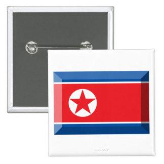 Joya de la bandera de Corea del Norte Chapa Cuadrada