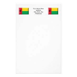 Joya de la bandera de Guinea-Bissau Papeleria Personalizada