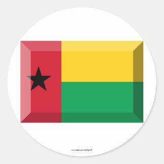 Joya de la bandera de Guinea-Bissau Pegatina Redonda