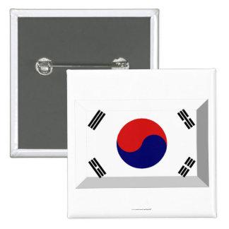 Joya de la bandera de la Corea del Sur Chapa Cuadrada 5 Cm