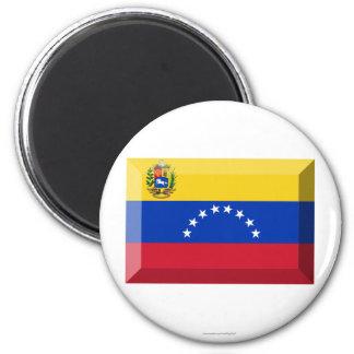 Joya de la bandera de Venezuela Imán Redondo 5 Cm