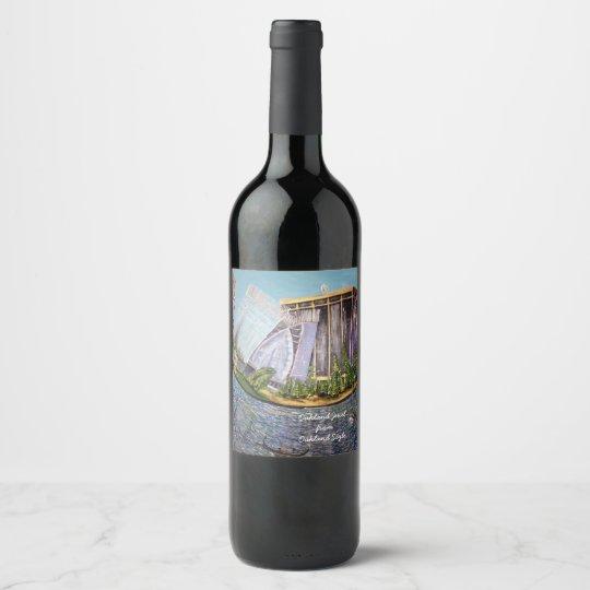 Joya de Oakland de Oakland.Style Etiqueta Para Botella De Vino