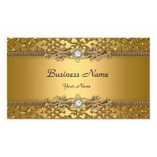 Joya grabada en relieve damasco con clase elegante tarjeta de negocio