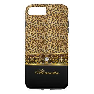 Joya salvaje elegante del oro del negro del funda iPhone 7 plus