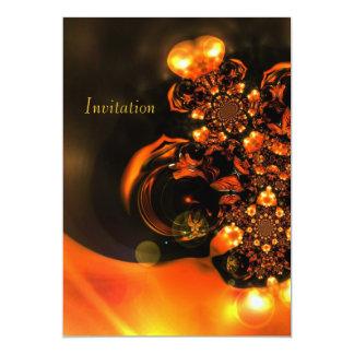 Joyas del naranja del arte abstracto de la invitación 12,7 x 17,8 cm
