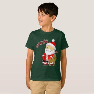 Joyeaux Noel embroma la camiseta del navidad