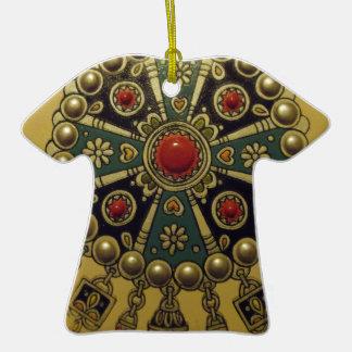 Joyería africana del norte tradicional adorno de cerámica en forma de camiseta