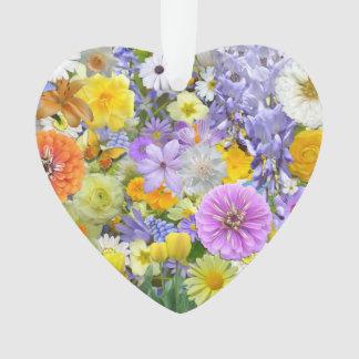 Joyería - colgante - flores y mariposas adorno