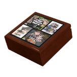Joyería del recuerdo del collage de cuatro fotos/c caja de regalo