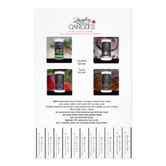 Joyería en aviadores de las velas folleto 14 x 21,6 cm