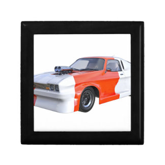 Joyero 2016 coche anaranjado y blanco del músculo