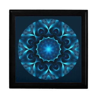 Joyero A01. La mandala azul de medianoche tejó Box.1