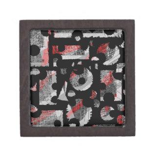 Joyero Abstracción gris y roja