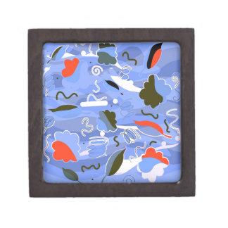 Joyero Abstracción juguetona azul
