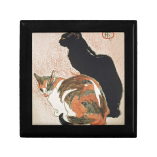 Joyero Acuarela - 2 gatos - Théophile Alejandro Steinlen