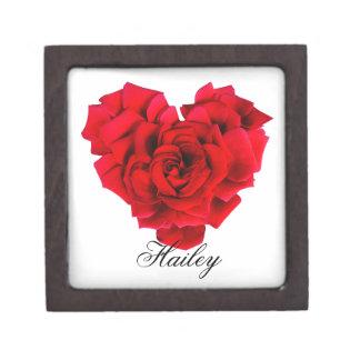 Joyero Amor en forma de corazón del rosa rojo