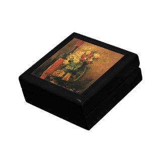 Joyero Bella arte romántica de Van Gogh con los rosas y