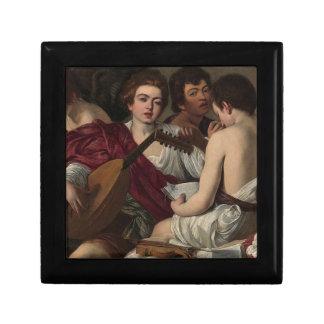 Joyero Caravaggio - los músicos - ilustraciones clásicas