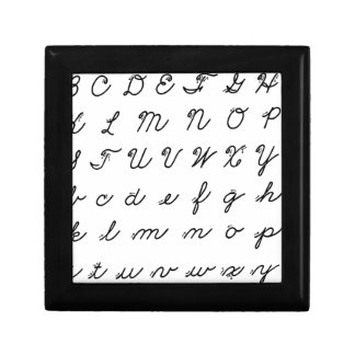Joyero carta cursiva de la escritura